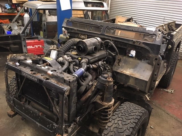Land Rover Defender refurbishment bulkhead galvanised