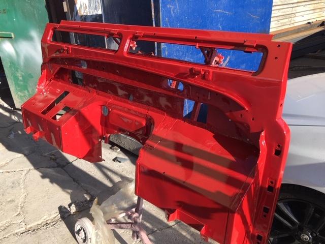 Defender bulkhead restored galvanised painted