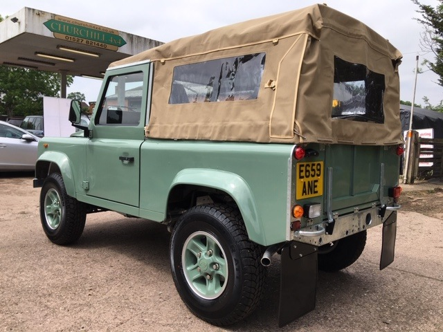 Restored Land Rover 90 Soft Top