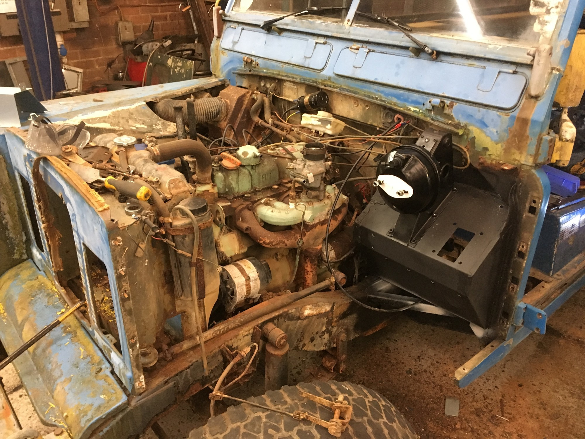 Land Rover Series 3 new footwell left hand drive