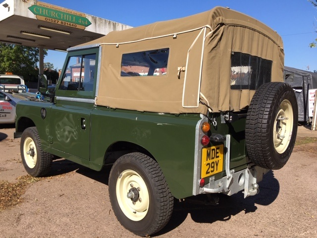 Restored Land Rover Series 3 petrol soft top