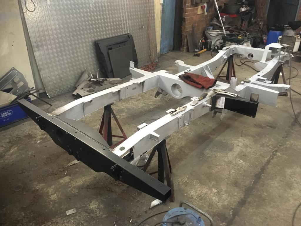 Land Rover chassis restoration refurbishment welding