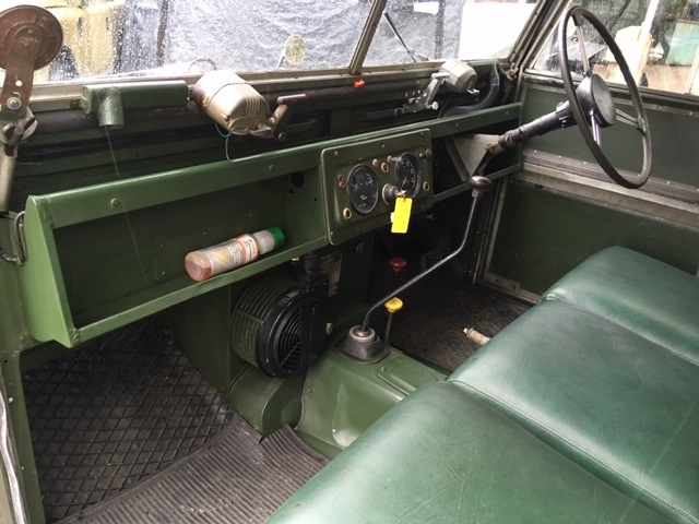 """Land Rover 86"""" for sale interior pic"""