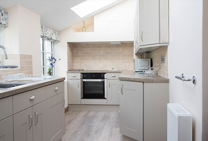 modern kitchen extension with skylight