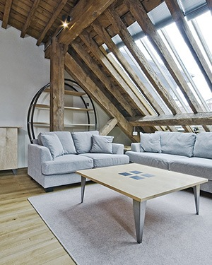 loft converted to an apartment