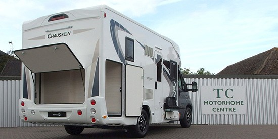 chausson 610 back view with storage open