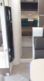 view of a motorhome bed