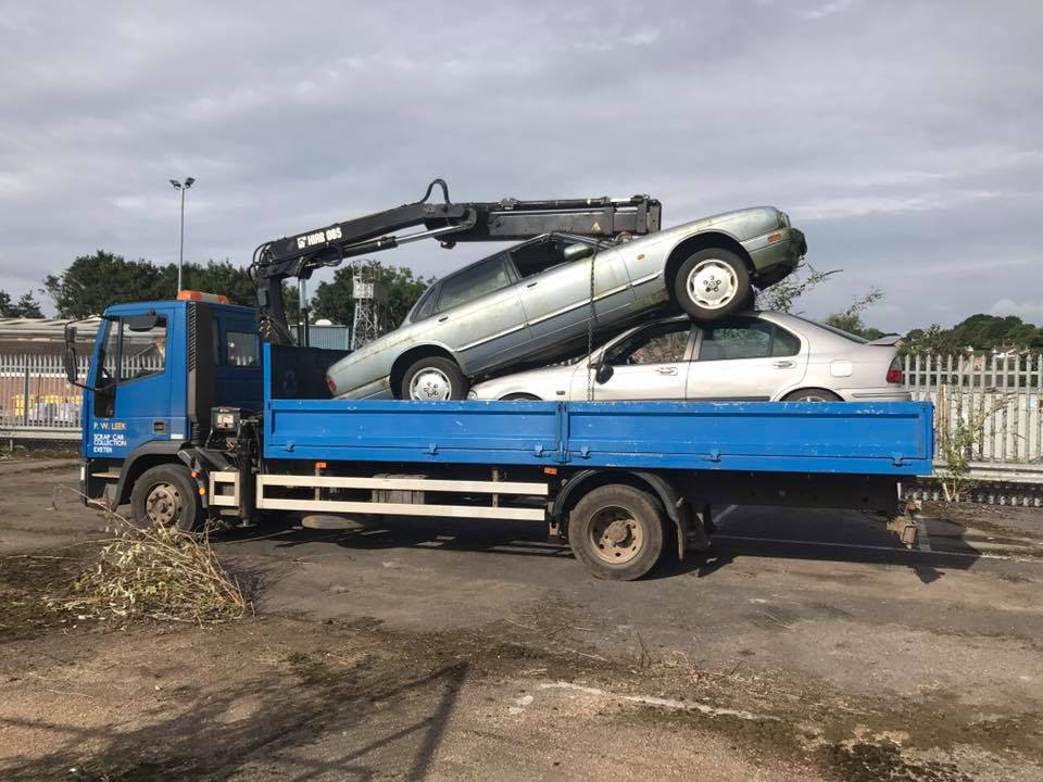 Scrap Car Collection Exeter : P W Leek Scrap Metals