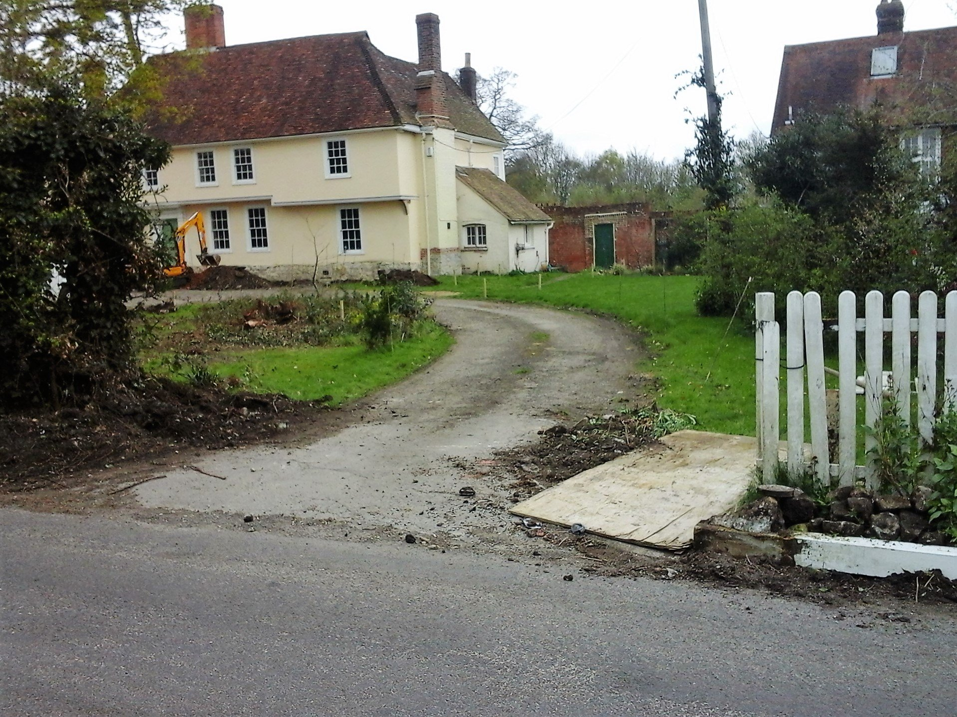 Driveway in Offam Before