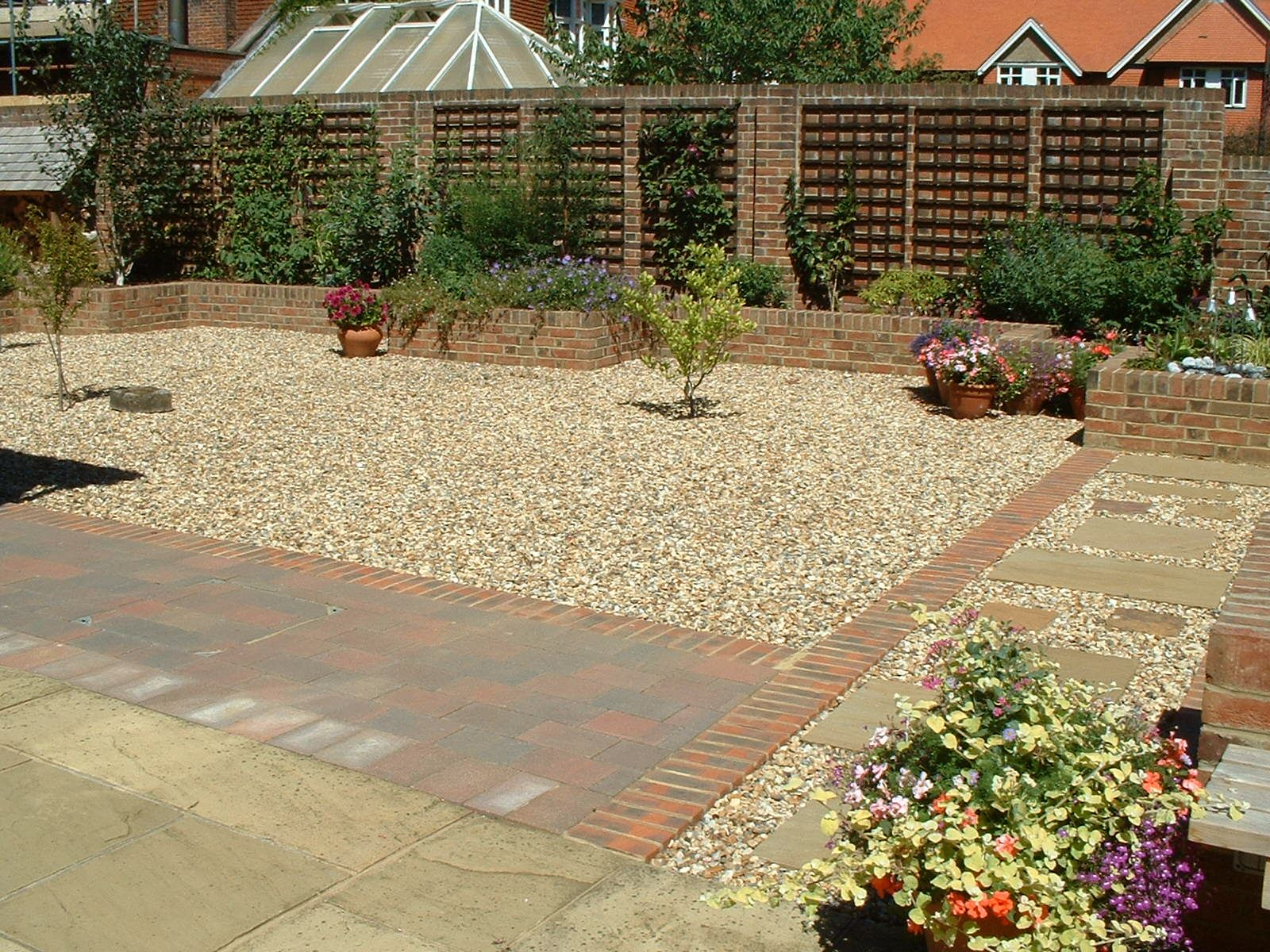 hard landscaping back garden ideas
