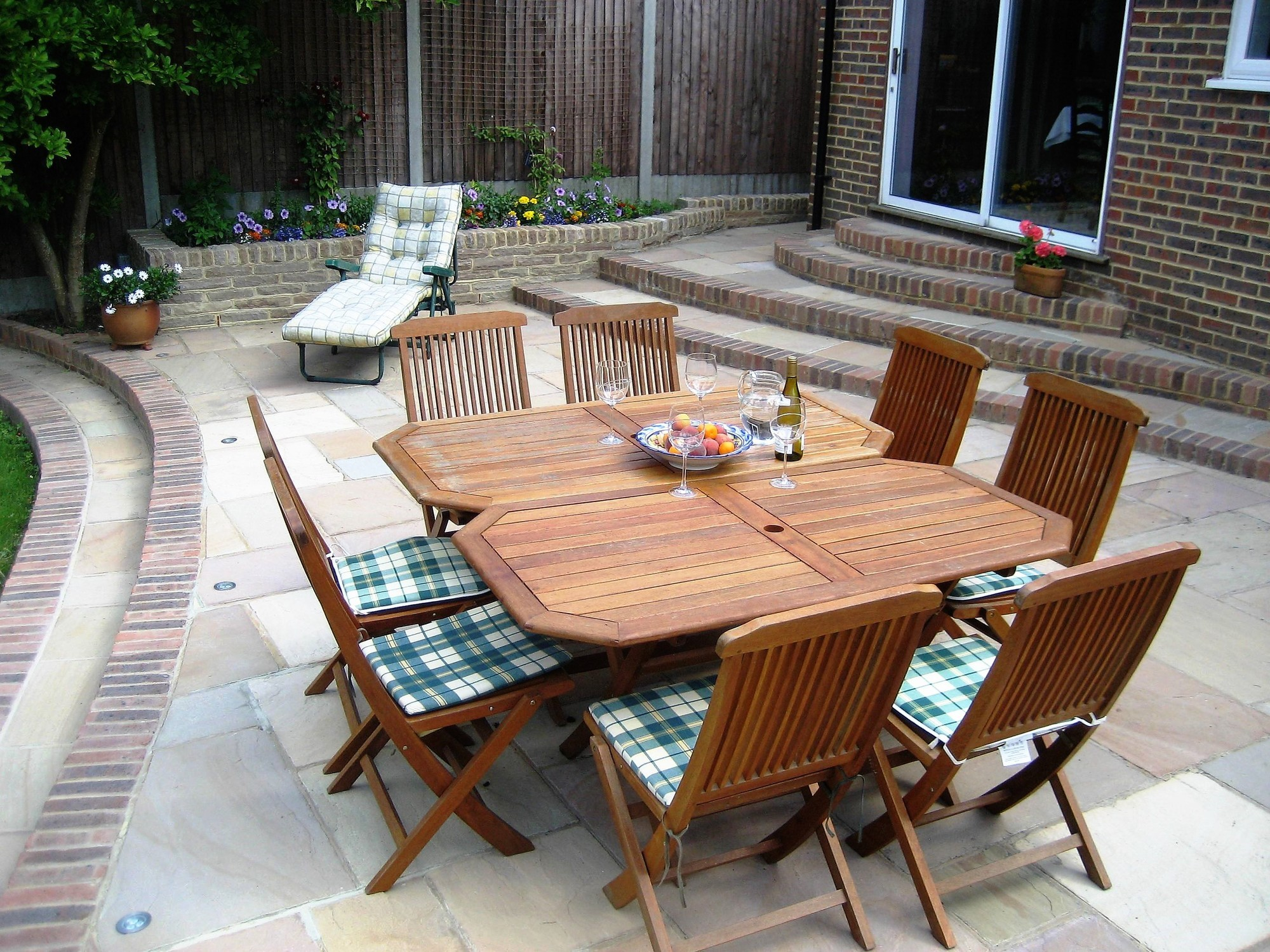 Maidstone patio dining area