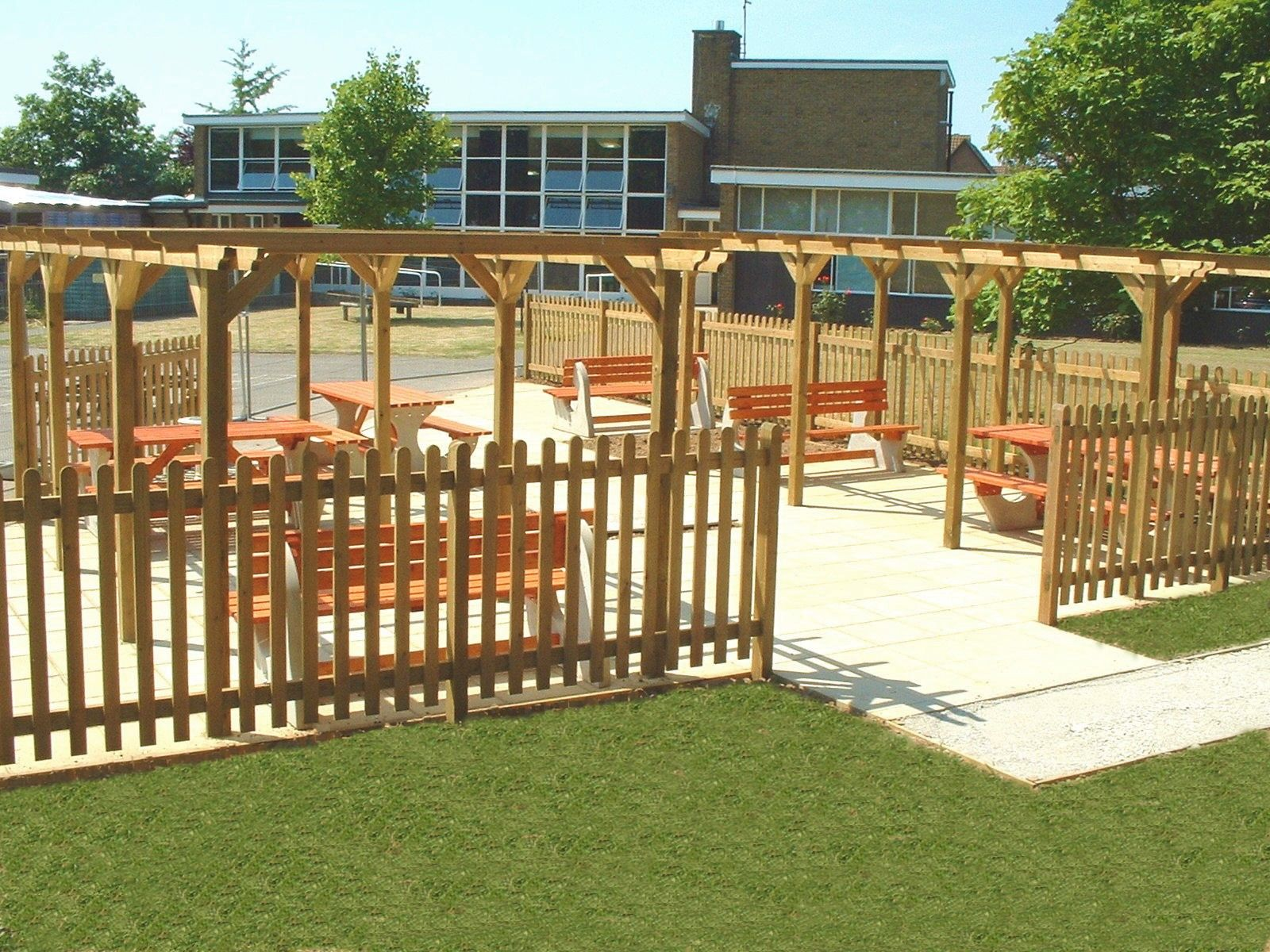 Kent Commercial landscaping - Outside Classroom