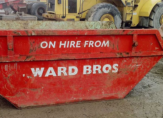 skip on hire from ward bros