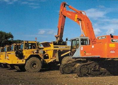 ward bros excavator on hire