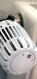 dial knob of a radiator