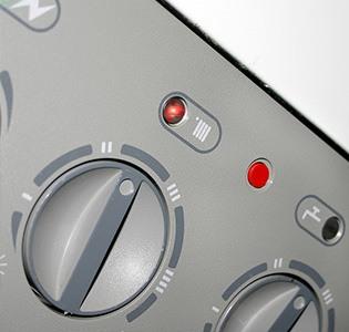 dial controls of a boiler