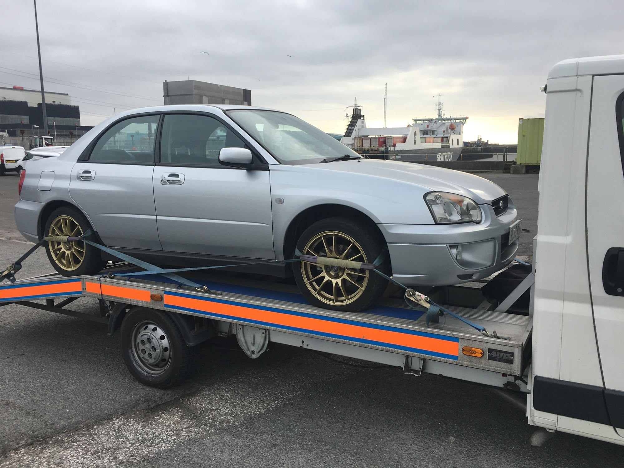 Silver Subaru Collected from Blackpool Lancashire