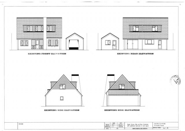 Example house extension plans