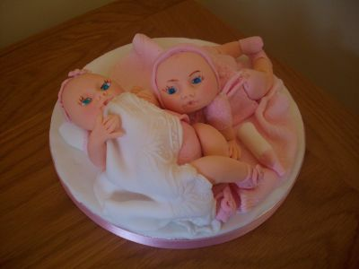 Twin Baby Cake Topper