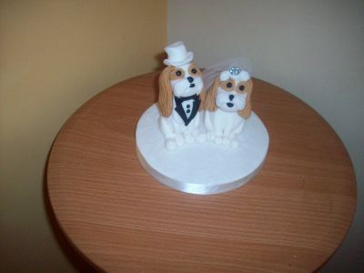 Bride and Groom Dogs Wedding Cake Topper