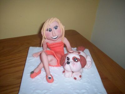Girl 21st Birthday Cake Topper