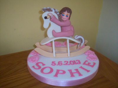 Baby Rocking Horse Cake Topper