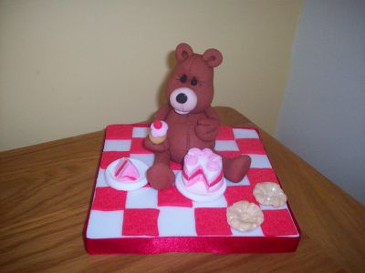 Teddy Bear Picnic Cake Topper