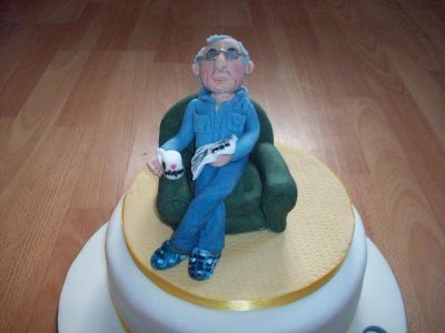 Man in Chair Cake Topper