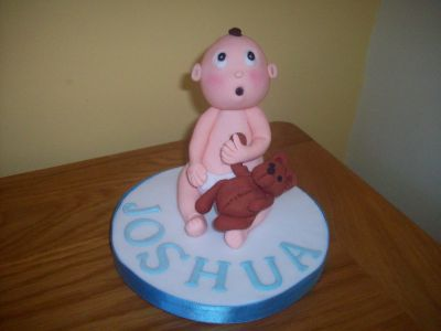 Personalised Baby and Teddy Cake Topper