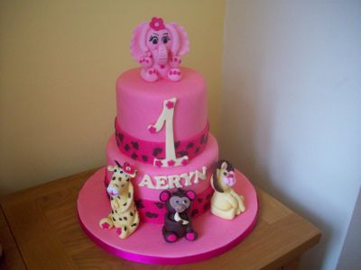 Animals Safari Birthday Cake