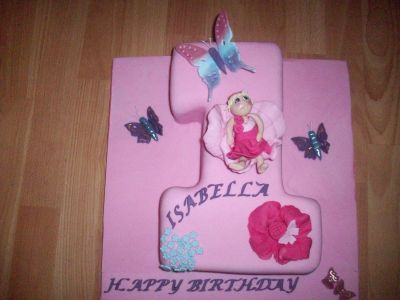 Baby and Butterflies Cake