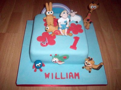 Baby TV Birthday Cake