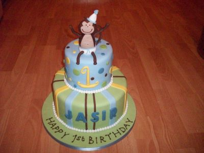 Monkey Baby Birthday Cake