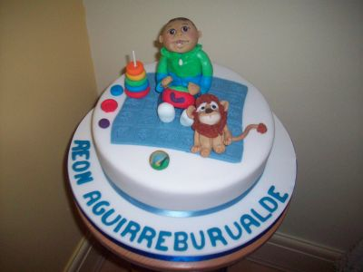 Baby and Toys Birthday Cake