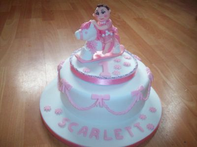 Baby and Rocking Horse Cake