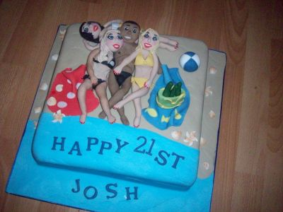 21st Beach Party Cake