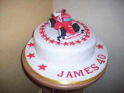Racing Car 40th Bithday Cake