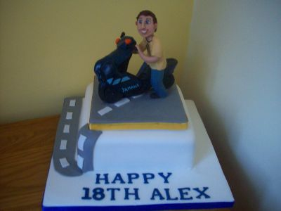 Moped 18th Birthday Cake