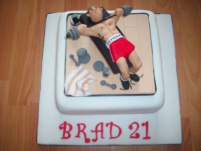 Weightlifter Novelty Cake