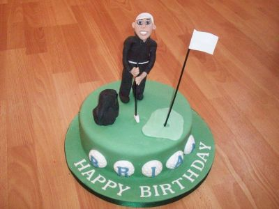 Golfing Man Birthday Cake