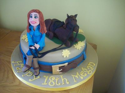 18th Girl and Horse Cake