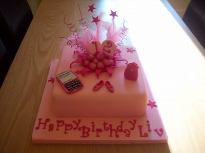 Pink Iphone Girl Cake