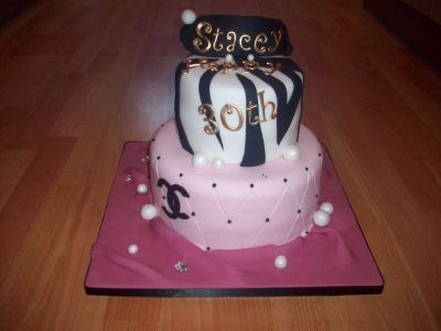 Leopard Pink and Black Chanel Cake