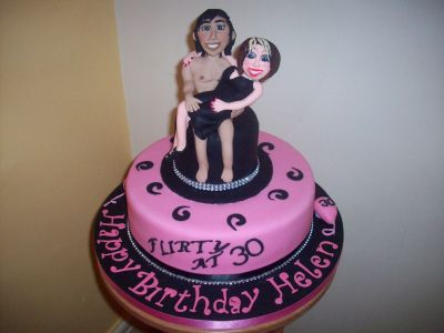30th Lady Novelty Naughty Cake