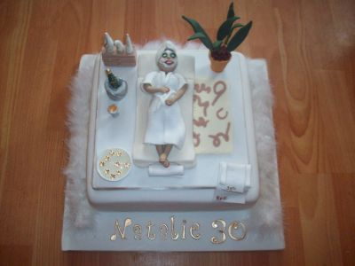 Sauna Beauty Salon Cake