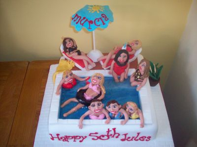 Swimming Pool Holiday Cake