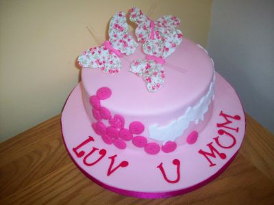 Butterflies Mothers Day Cake
