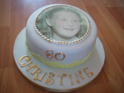 60th Lady Birthday Cake