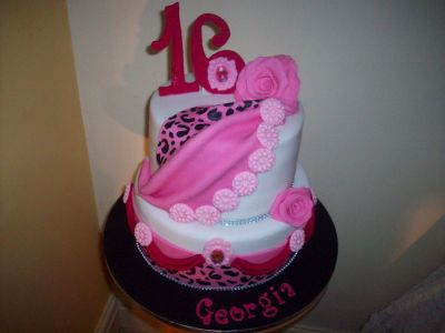 16th Girl Birthday Cake