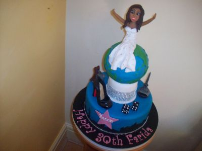 World 30th Birthday Cake